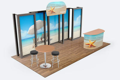 Tradeshow Booth Vector Style Mockups