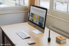 iMac Mockup Template Office Side View