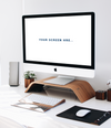 Clean Startup Office iMac WorkSpace Mockup PSD