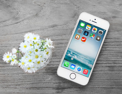 iPhone Mockup Wooden Background