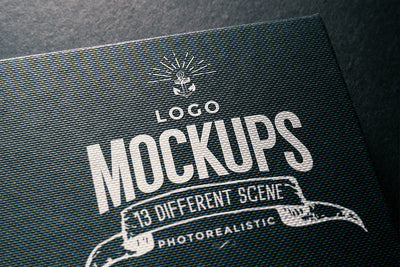 Collection of Hyper-Realistic Logo Mockups