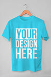 Hanging Blue T-Shirt Mockup