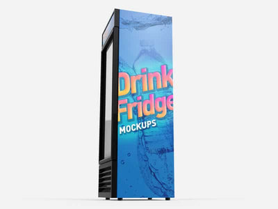 Drink Fridge Refrigerator Mockups