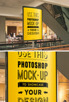 Mall Advertising Stand or Sign Poster MockUp