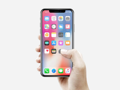 iPhone X Mockup in a Hand
