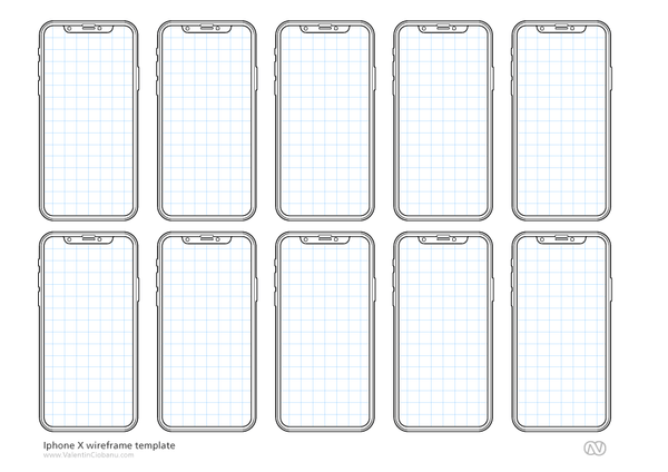 IPhone X Wireframe Mockup Template
