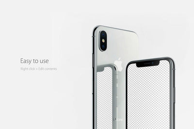 Cool iPhone X PSD Mockup