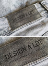 Close-up Jeans Logo Label Mockup