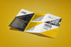 5 Views of a Z-Folded Flyer Mockup