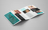 4-panel Leaflet Brochure Mockup 5 Angles or Views
