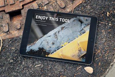 Macbook Pro, iPhone and iPad on the Street PSD Mockup