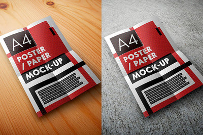 A4 Poster or Page Mockup Set