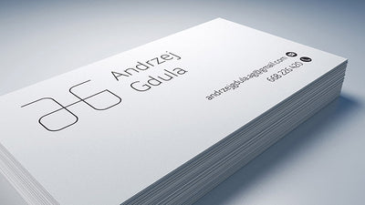 3 x Clean Business Card Mockups 90x50 mm