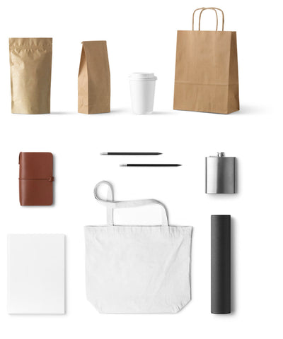 Essential Stationery and Branding Mockup Set with Paper Bag
