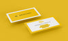 Business Card Mockups in a Yellow Background 4 Views