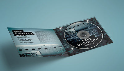 DVD/CD Paper Packaging Cover Mockup Set