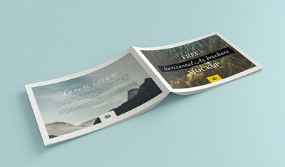 Clean Landscape Brochure Mockup Set of 4 Views