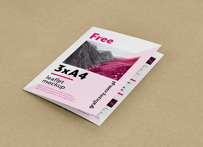 Collection of 5 Trifold Leaflet Mockups