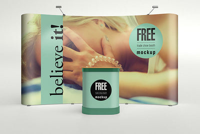 Business Trade Show Booth Advertisement Mockup