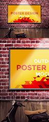 Horizontal Outdoor Poster Design Mockup
