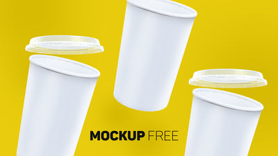 Empty Ice Cream or Coffee Paper Cup Mockup