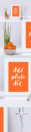 Photo Frame Decoration Mockup Scene