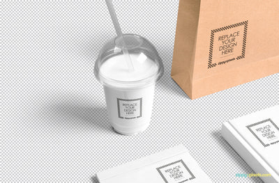 Mouth-Watering Transparent Plastic Cup Mockup