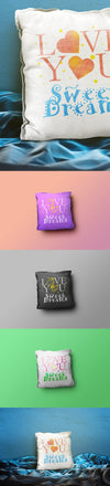 Close-Up Pillow Mockup PSD Templates