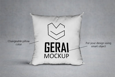 White PSD Pillow Mockup