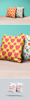 Two Photorealistic Pillows Mockup PSD