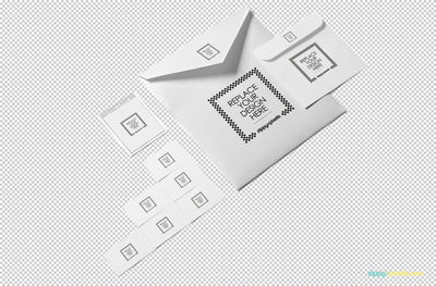 Beautiful Envelope Mockup PSD