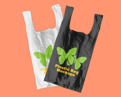 Set of Plastic Bag Mockups