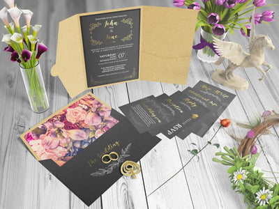 Invitation Card and Envelope Mockups