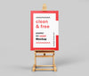 Poster on Easel Station Mockup