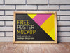 2 Shots of Wooden Frame or Poster Mockups