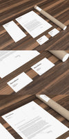 Stationery Mockup Collection on a Wooden Floor