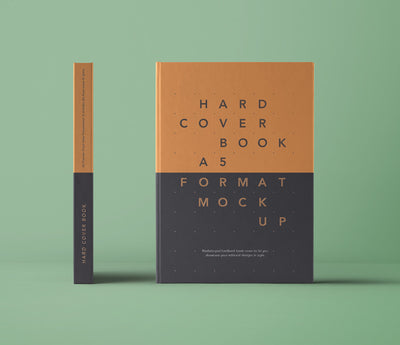 Psd A5 Hardcover Book Front View