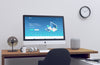 Realistic Home Office iMac PSD Mockup