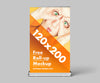 Business Advertisement Roll-Up Mockup or 120x200 cm