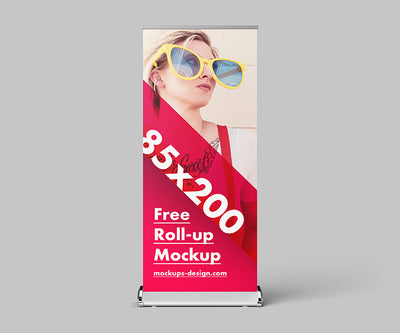 Roll-up Advertisement Mockup or 85x200 cm