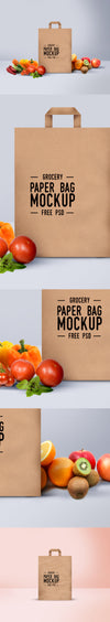 Brown Shopping Paper Bag Mockup