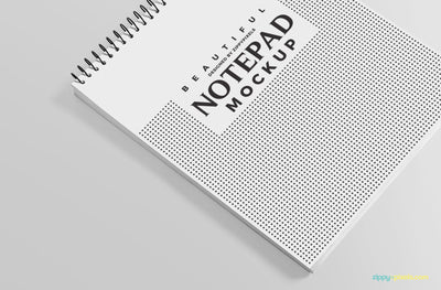 Ringed Notepad Mockup