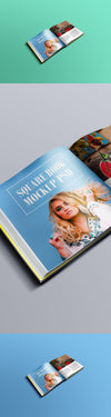 Square Book or Magazine or Newspaper Mockup PSD