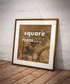 Clean Wooden Square Frame or Poster Mockups (2 Views or Angles)
