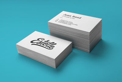Stack of White Business Card Mockups