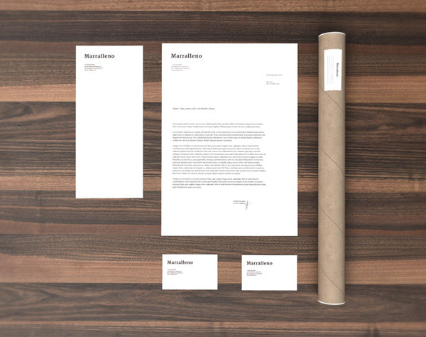 clean white stationery and branding psd mockup