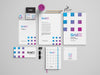 Clean Stationery Mockup Set from Multiple Angles or Views