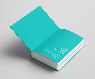 Thick and Clean Book PSD Mockup