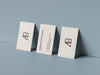 Triple Business Card PSD Mockup