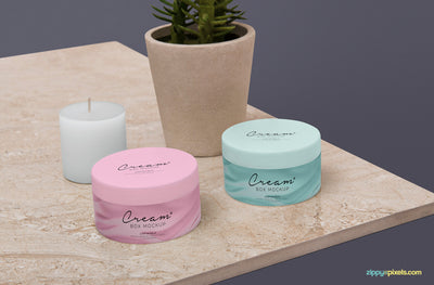 Amazing Cosmetic Jar Mockup